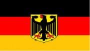 Fahne Deutschland 1,00x1,50m mit Wappen